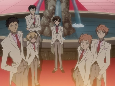 Ouran in white suits