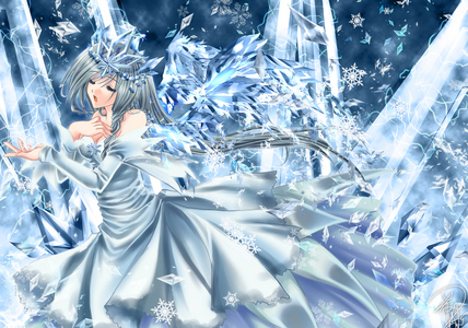 Here te go!Hope u like it..It's Snow Angel and have a pair of wings made with ice...^^
