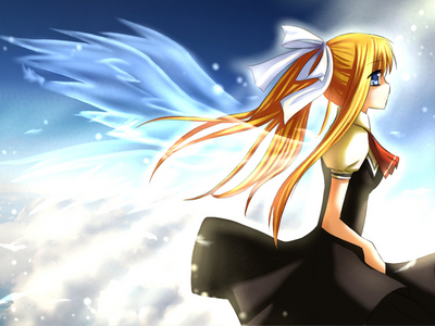 Misuzu with wings from the Anime Air