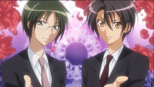 "Ummmmmm i think this is a butler o a tuxedo oufit ^^"" oh and this is Misaki-kun and Subaru-kun in Kaichou Wa Maid Sama .... Chan = Kun cause opposite gender x3 Hope it's not compulsory to be a cosplay ^^"""