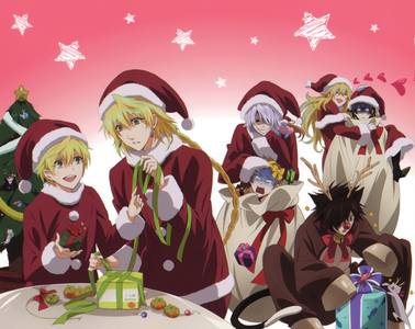 """Oz, Jack, Break, Vincent, Gilbert from Pandora Hearts.........and Chestire ^^"""""""