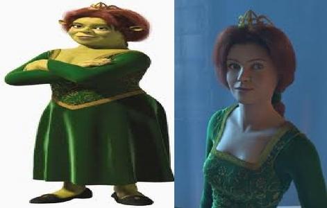 I think Princess Fiona wether she's a human 或者 an ogre :)