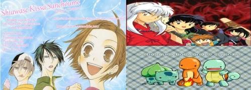 Manga: Shiawase Kissa Sanchoume (English: Happy Cafe) Anime: Either Pokemon یا InuYasha