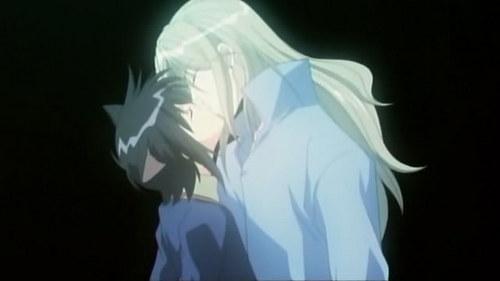 i know it's 矢追 but it's my 最喜爱的 XD soubi(blonde hair) x ritsuka(black hair) from loveless 或者 if 你 wanna be weird beloved x loveless from loveless