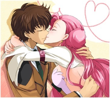 """Suzaku and Euphemia. (So hard because I had other 2 pics and I was """"which of these 3 do I post""""). Aren't they cute?"""