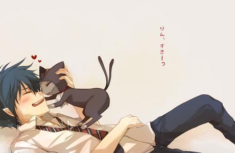Rin and Kuro~! ^_^