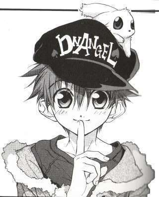 Daisuke and Wiz From D.N. Angel (on his hat)