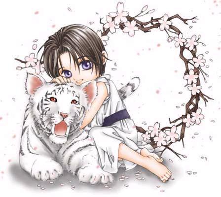 tsuzuki with a tiger
