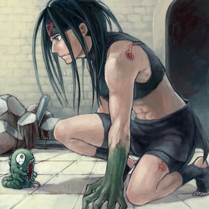 Does this count? It's Envy from FMA. Both of them... Envy and his true form... His true form is the lizard, da the way. T.T SOOOO SAD!!!!!