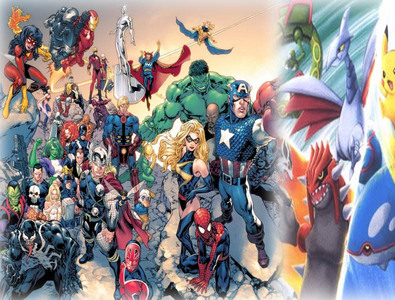 Randon question: If آپ could picture the Pokemon and Marvel universes together, who would آپ see battling and why?