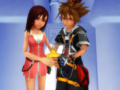 Do you think this might happen in the upcoming kh games?(not like this but sora and kairi sharing a papou fruit:D)