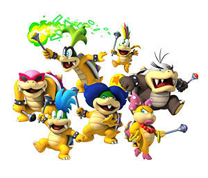 Why does the Koopaling's birth order keep changing cause in