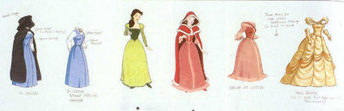 If you could change the color of one of Belle's dresses which one would you change and to what?
