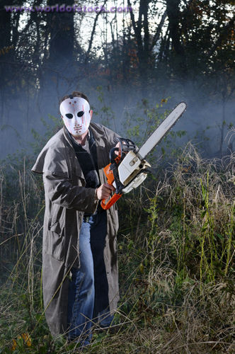 What would bạn do if a ngẫu nhiên guy wearing a mask with a huge chainsaw asks the name of your worst enemy?