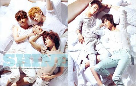 Q:What would bạn do if bạn woke up one morning and found SHINee in your bed?