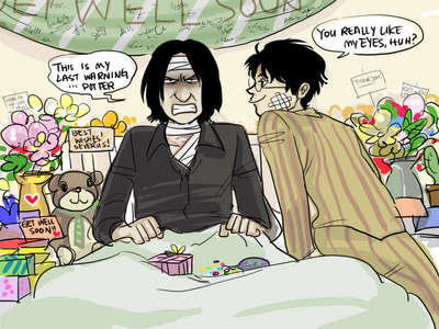 What are some of the best 或者 most outlandish theories/ways you've come across 或者 thought up in which Severus Snape survived Nagini's attack?