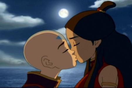 Did anyone find Aang and Katara's किस scenes awkward?
