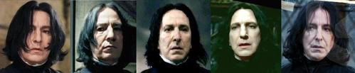 Severus's appearance changed in the whole series