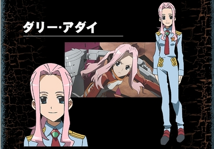 Darry Adai from Tengen Toppa Gurren Lagann looks very much like me! Hair up in a ponytail, no bangs, and yes my hair is pink! Of course this look won't last forever, I'm get my hair styled differently.