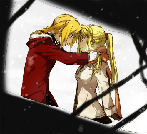 Edward Elric and Winry Rockbell from FullMetal Alchemist of course!!!! :D