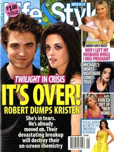 Nope. He's not dating anyone at the moment because apparently he broke up with Kristen because she was too miserable.