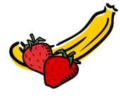 is tie btwn banana and strawberries :3