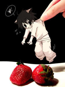 i likes it all! (exept tomatos) random: evil hand!!!!! put L down THIS INSTENT!!! lol
