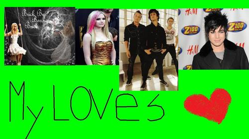 My loves!!!! Paramore, Avril Lavigne, Green Day, & Adam Lambert <333333333