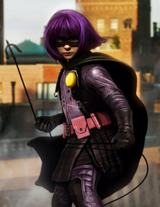 Kick 屁股 is mine,this is hit girl though,my fav characture in the movie. X3