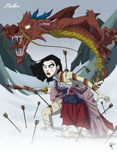 Here is evil mulan and evil Mushu