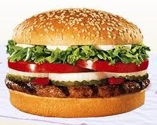 Burger king whopper:)