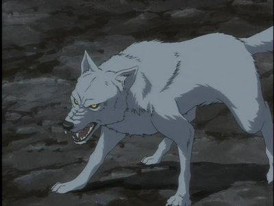 a wolf. they are my favorit animal! lol sorry i wanted to use a Wolf's Rain picture lol