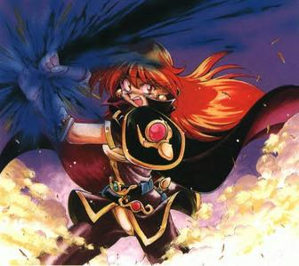 Lina Inverse from Slayers.  She's constantly complaining about people saying she's short and she's one of the few non-wimpy anime girls out there.