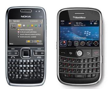 - Nokia E72 (Black) - BlackBerry Bold 9000 (Black)
