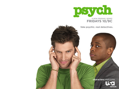 Psych! ^^ But I also l'amour Castle, Bones, Ghost Whisperer, Big Bang Theory, and Royal Pains <333