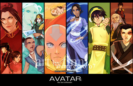 Toph, Mai, Ty Lee, Azula, Katara, Suki, atau Yui (all from avatar the last airbender)