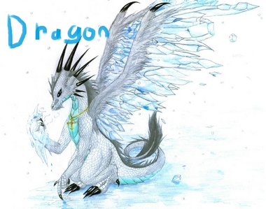 I can't draw a dragon (the last two attempts when horrible). So, I took this pretty dragon picture (which I didn't draw, I just added the word 'Dragon').