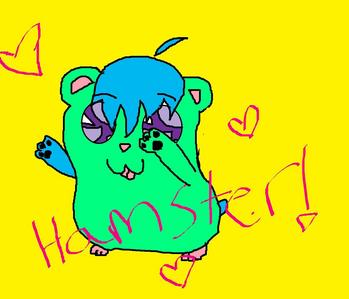 Here is my very colorful hamster. xD