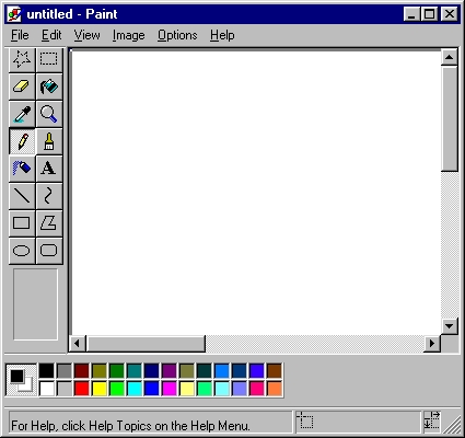 On windows, there a software called Window's Paint atau just Paint. It's usually where the start button is, then anda click all programs, then accessories, then anda should see Paint there.