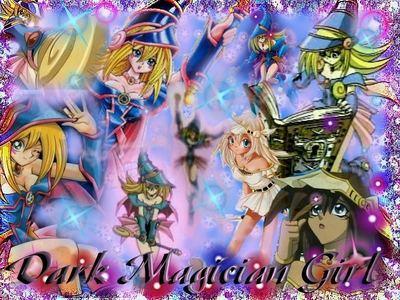 a dark magician girl mural