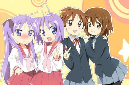 K-On! and Lucky Star! Crash B-Daman and Metal Fight Beyblade!