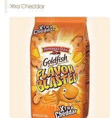 XTRA Cheddar Flavor Blasted Goldfish!!!!!!!!!!