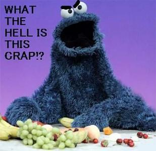 Oh, don't look at me! It was COOKIE MONSTER!
