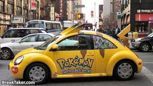 pokemon car u owe me props