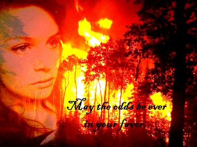 This is my personal お気に入り of the ones I've created, but it was pretty close with this one ;; http://www.fanpop.com/spots/the-hunger-games-trilogy/images/15456882/title/fire-catching-fanart (: Answer mine? http://www.fanpop.com/spots/the-hunger-games-trilogy/images/15329662/title/which-character-photo