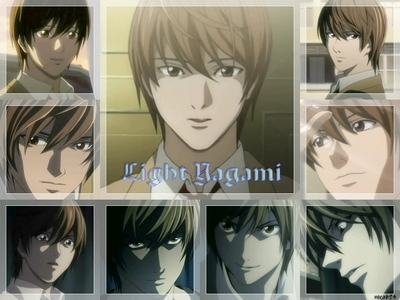Yay!! Sounds like fuun X3...Light from Death Note!! ..He's my sexy kami lol...*hides from obsesssed L mashabiki and Light haters* Don't worry Light I won't let anyone hurt wewe XD