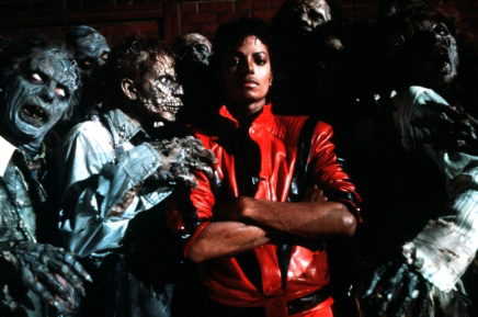 Thriller might scare me alittle bit, but I just think its a great piece of film and Michael was just great in Thriller!
