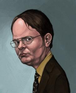 This is my kegemaran ever portrait of Dwight Schrute. Painted sejak jhorn79 on Deviantart.com. Cinta IT!!!