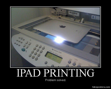 Problems with printing documents from your Ipad? Problem solved!