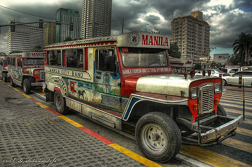 mabuhay! I'm from MANILA,PHILIPPINES! This is our signature public vehicle..its called JEEP или JEEPNEY.. MICHAEL used to ride here when he visited philippines with the jackson way back seventy's